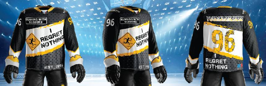 Running With Scissors Hockey Jerseys Available for Pre Order