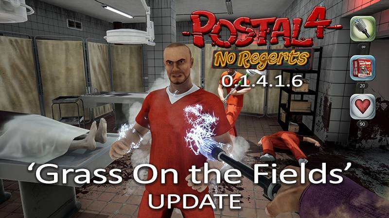"The ""Grass On The Fields"" update for POSTAL 4 is NOW AVAILABLE! Now the ground is much furrier!"