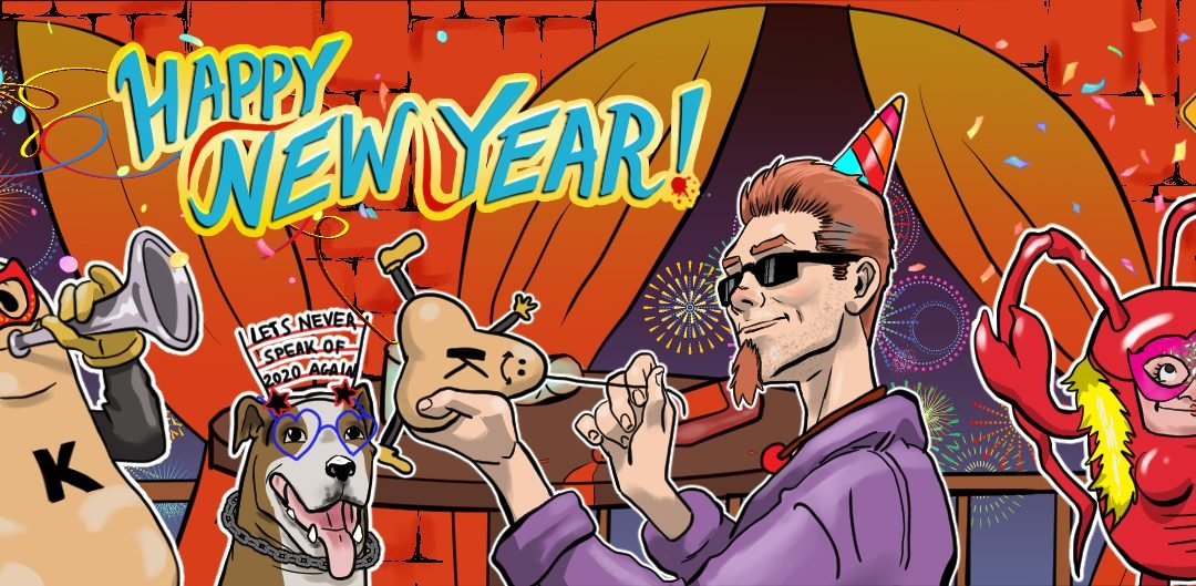 Happy New Year from Running With Scissors! Let's never speak of 2020 again!